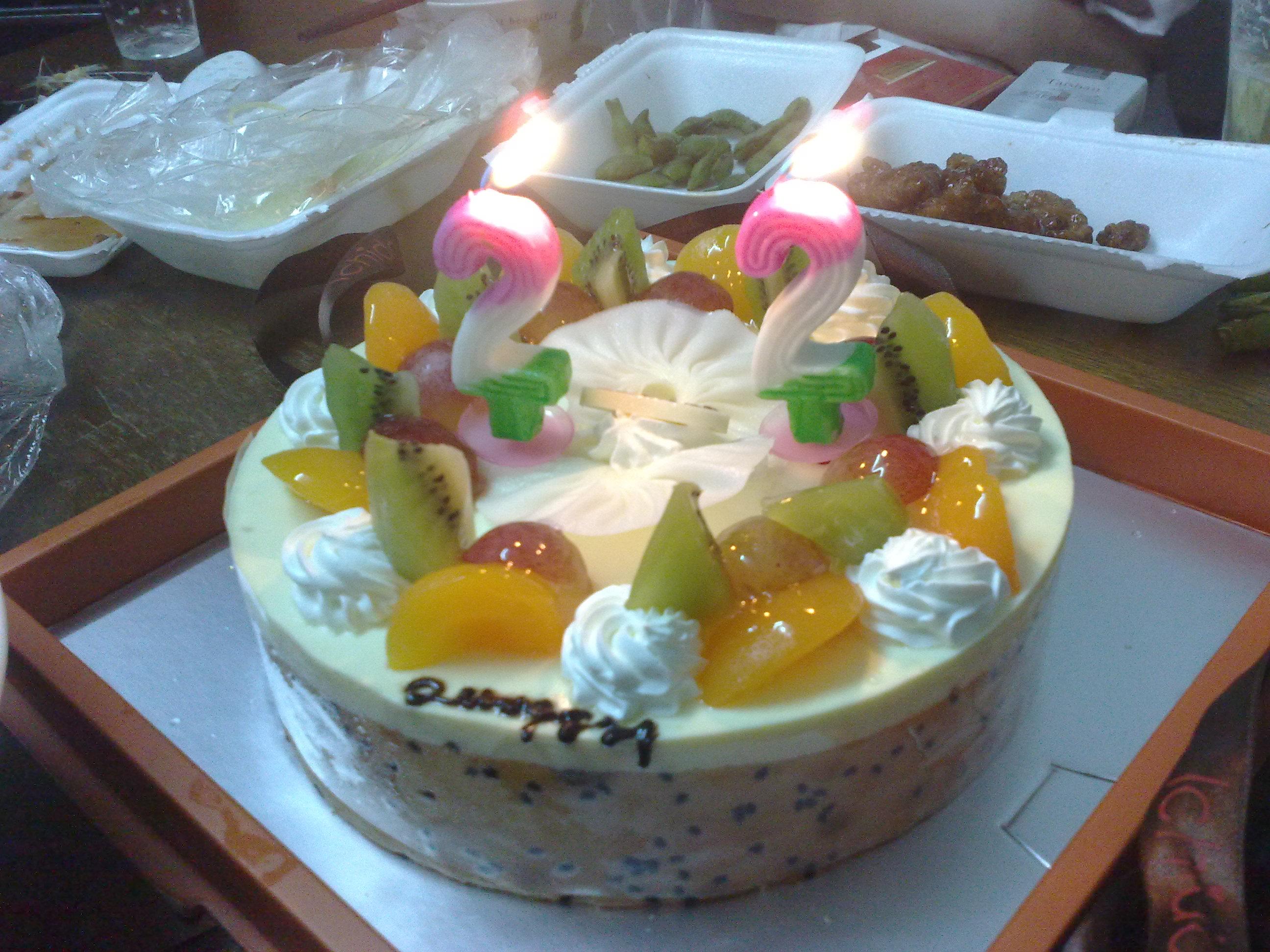 在上海度过的22岁生日