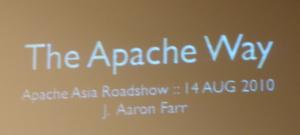 J Aaron Farr简述The Apache Way